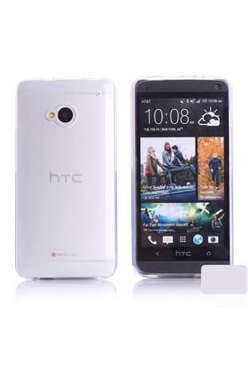 Microsonic Transparent Soft Htc One M7 Kılıf Beyaz