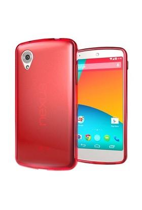 Microsonic Transparent Soft Lg Nexus 5 Kılıf Kırmızı
