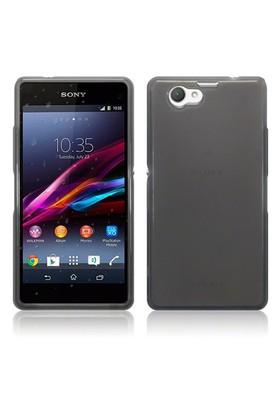 Microsonic Transparent Soft Sony Xperia Z1 Compact Kılıf Siyah