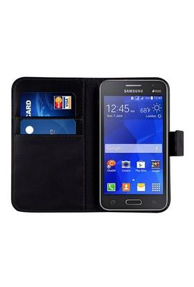 Microsonic Cüzdanlı Deri Samsung Galaxy Core 2 Kılıf Siyah