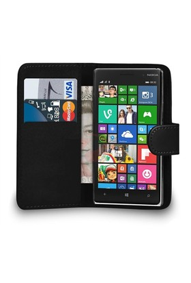Microsonic Cüzdanlı Deri Nokia Lumia 830 Kılıf Siyah