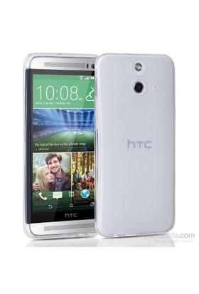 Microsonic Transparent Soft Htc One E8 Kılıf Beyaz