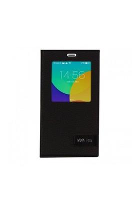 Lopard Meizu Mx4 Pro Kılıf Kapaklı Pencereli Ellite Case Deri Siyah