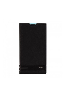 Lopard Nokia Lumia 640 Kılıf Kapaklı Sapphire Case Deri Siyah