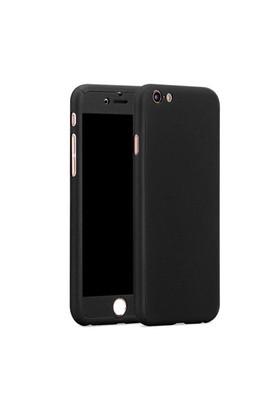 Gpack Apple İphone 6/6S Kılıf 360 Derece Full Body Mika Kılıf - Siyah
