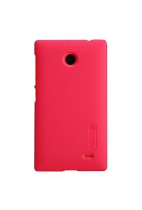 Nillkin Nokia X Kılıf Frosted Rubber Sert Kapak Kırmızı