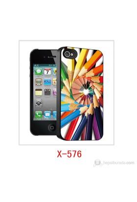 I-Techgear Apple iPhone4/4S 3D Arka Kapak Boya Kalemleri X-576