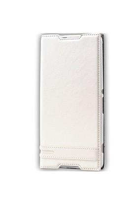 Lopard Sony Xperia Z2 Kılıf Sapphire Kapaklı Deri Görünümlü Mat
