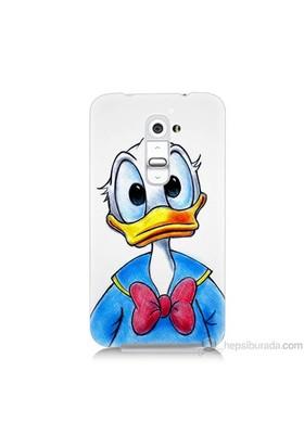 Teknomeg Lg G2 Kapak Kılıf Donald Duck Baskılı Silikon