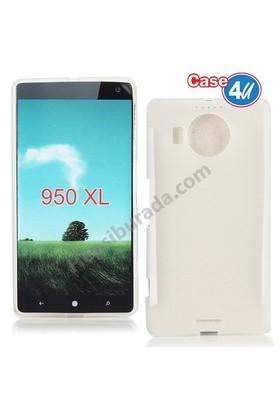 Case 4U Microsoft Lumia 950 Ultra İnce Silikon Kılıf Şeffaf