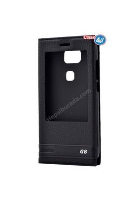 Case 4U Huawei G8 Pencereli Kılıf Siyah