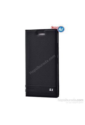 Case 4U Lenovo Vibe S1 Kapaklı Kılıf Siyah
