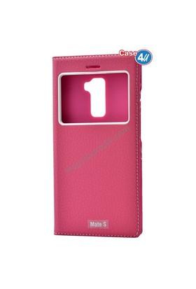 Case 4U Huawei Mate S Dolce Kapaklı Kılıf Pembe*