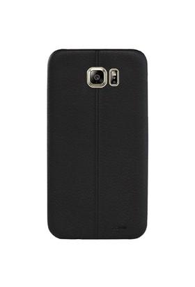 Cepsesuar Samsung Galaxy Note 5 Kılıf Dikişli Siyah