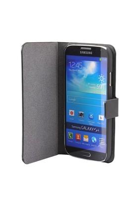Vacca Samsung Galaxy S4 Magnet Kapakli Kilif Business Class Siyah Kapak