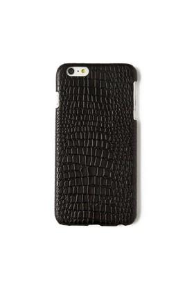 Timsah Baskı Siyah Deri Telefon Kılıfı - İphone 6 Plus / 6S Plus