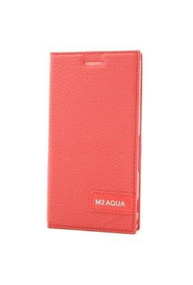 Teleplus Sony Xperia M2 Flip Cover Kılıf Kırmızı