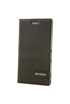 Teleplus Sony Xperia M2 Flip Cover Kılıf Siyah