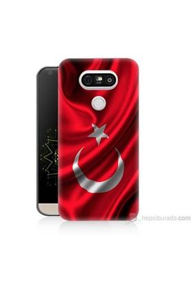 Teknomeg Lg G5 Kapak Kılıf Türkiye Bayrağı Baskılı Silikon