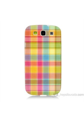 Teknomeg Samsung Galaxy S3 Kapak Kılıf Ekose Baskılı Silikon