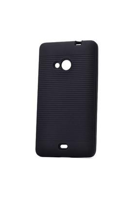 Lopard Nokia Lumia 535 Kılıf Youyu Arka Sert Kapak Siyah