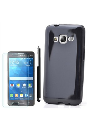 Gpack Samsung Galaxy Z1 Kılıf Parlak Silikon +Kalem+Cam