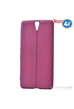Case 4U Sony Xperia C5 Ultra Desenli Silikon Kılıf Mor