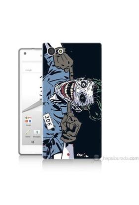 Teknomeg Sony Xperia Z5 Premium Kapak Kılıf Joe Joker Baskılı Silikon