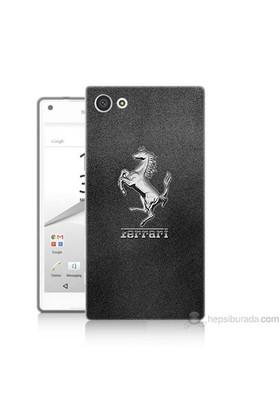 Teknomeg Sony Xperia Z5 Premium Kapak Kılıf Ferrari Baskılı Silikon
