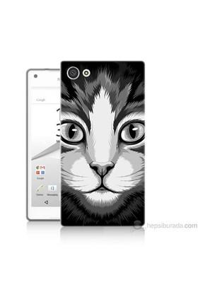 Teknomeg Sony Xperia Z5 Premium Kapak Kılıf Kedicik Baskılı Silikon