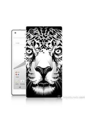 Teknomeg Sony Xperia Z5 Premium Kapak Kılıf Kaplan Baskılı Silikon