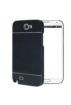 Microsonic Samsung Galaxy Note 2 Kılıf Hybrid Metal Siyah