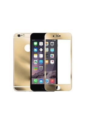 Lopard Apple İphone 6S Ön Arka Temperli Renkli Ekran Koruyucu Film Gold