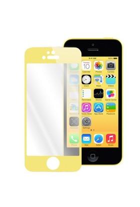 Lopard Apple İphone 5 5S Ön Arka Temperli Renkli Ekran Koruyucu Film Gold