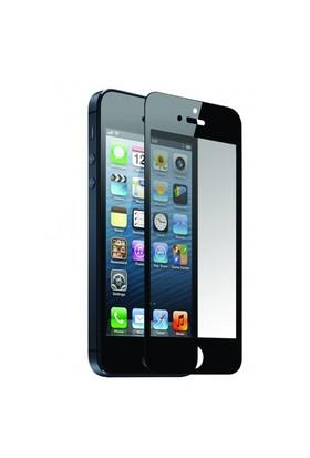 Lopard Apple İphone 5 5S Ön Arka Temperli Renkli Ekran Koruyucu Film Siyah