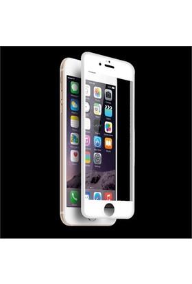 Lopard İphone 6 Plus 3D Tam Kapatan Temperli Cam Ekran Koruyucu Beyaz