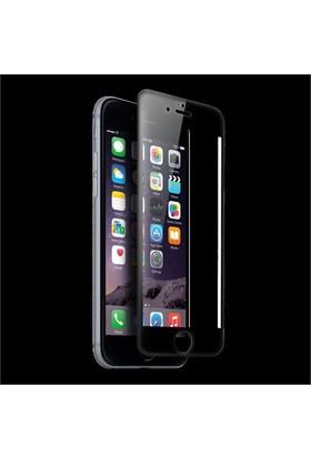 Lopard İphone 6S 3D Tam Kapatan Kavisli Temperli Cam Ekran Koruyucu Siyah