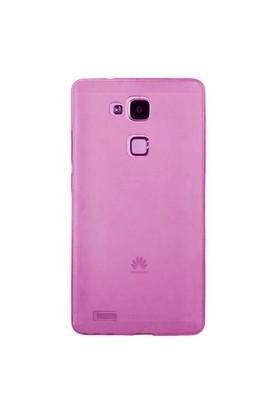 Case 4U Huawei Ascend Mate 7 Soft Silikon Kılıf Pembe