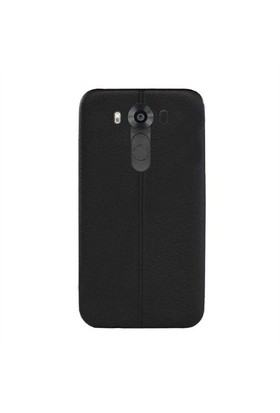 Ksp Lg V10 Silikon Kılıf Dikiş Desenli Siyah