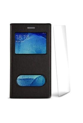 Volpawer Samsung Galaxy S4 Mini Pencereli Kılıf + Ekran Koruyucu Siyah