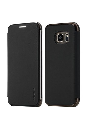 Rock Veena Samsung Galaxy S7 Kılıf Textured Slap-Up Business Siyah
