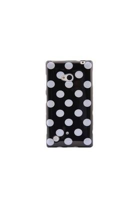 Duck Lumia 720 Puantiye Lady-Line Siyah Beyaz Kapak