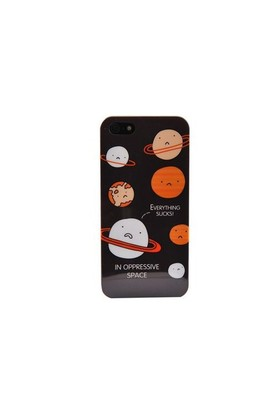 Duck Apple iPhone 5 Planets Hard Case Kapak