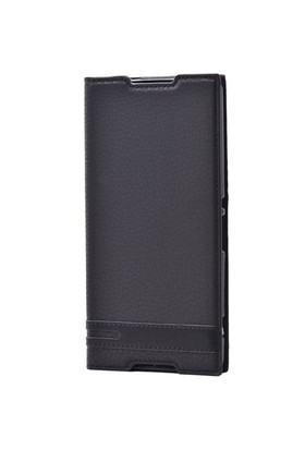 Lopard Nokia Lumia 735 Kılıf Sapphire Kapaklı Deri Görünümlü Mat