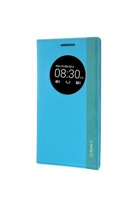 Teleplus Asus Zenfone 6 Pencereli Uyku Modlu Kılıf Mavi
