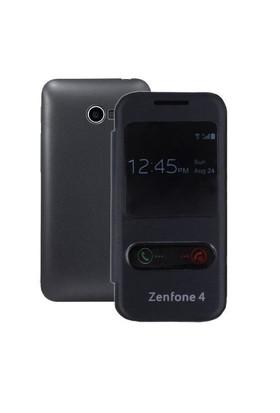 Teleplus Asus Zenfone 4 Pencereli Uyku Modlu Kılıf Siyah