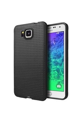 Teleplus Samsung Galaxy Alpha Silikon Kılıf Siyah