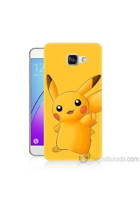 Teknomeg Samsung Galaxy A3 2016 Kapak Kılıf Pokemon Pikachu Baskılı Silikon