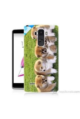 Teknomeg Lg G4 Stylus Kapak Kılıf Sevimli Köpek Baskılı Silikon
