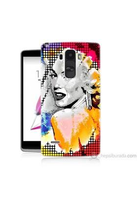 Teknomeg Lg G4 Stylus Kapak Kılıf Marilyn Monroe Baskılı Silikon